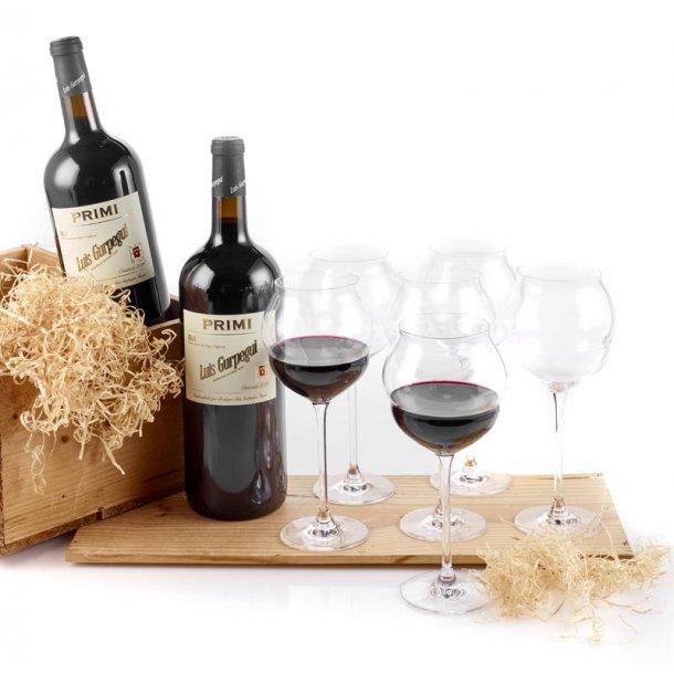 Rioja Magnum rødvin & 6 glas C&S