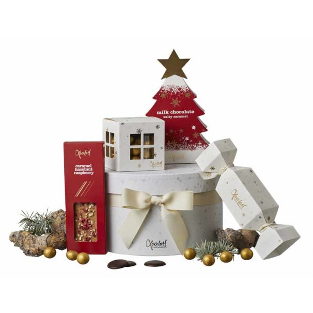 Julechokolade - Hatteæske rød