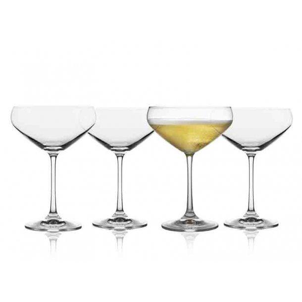Lyngby Glas Champagneskål - Juvel - 4 stk.