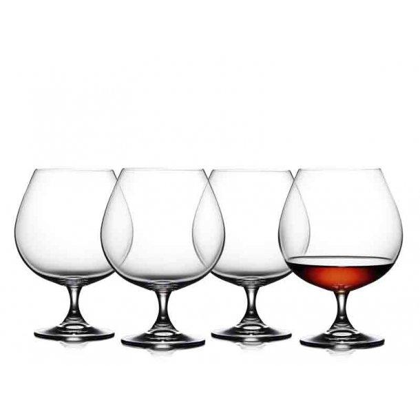 Lyngby Glas - Cognac - Juvel - 4 stk.