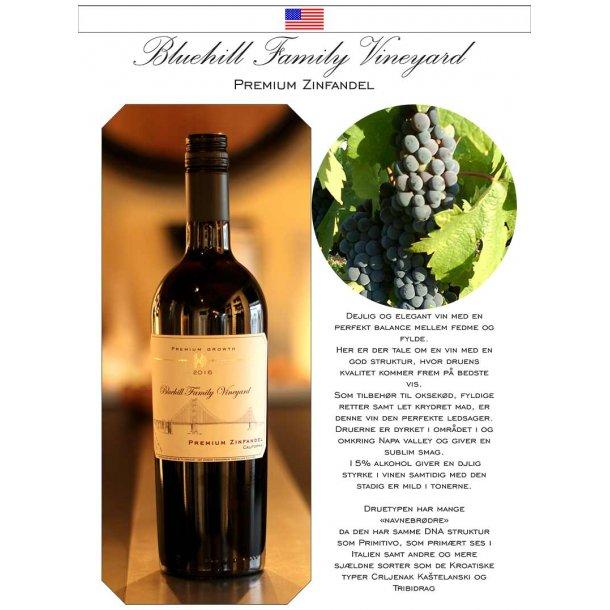 Bluehill Family Vineyard - Zinfandel med egen etikette