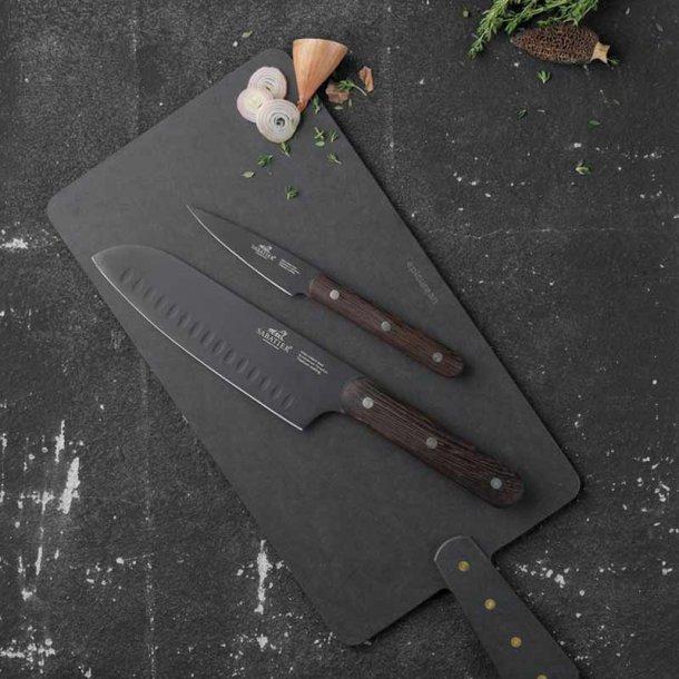 Sabatier knivsæt & serveringsbræt - gavesæt