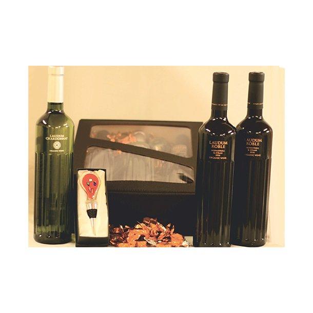Vingave med økologisk vin