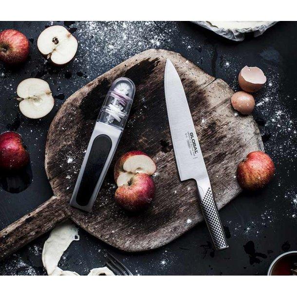 Global sampak kokkekniv og knivsliber
