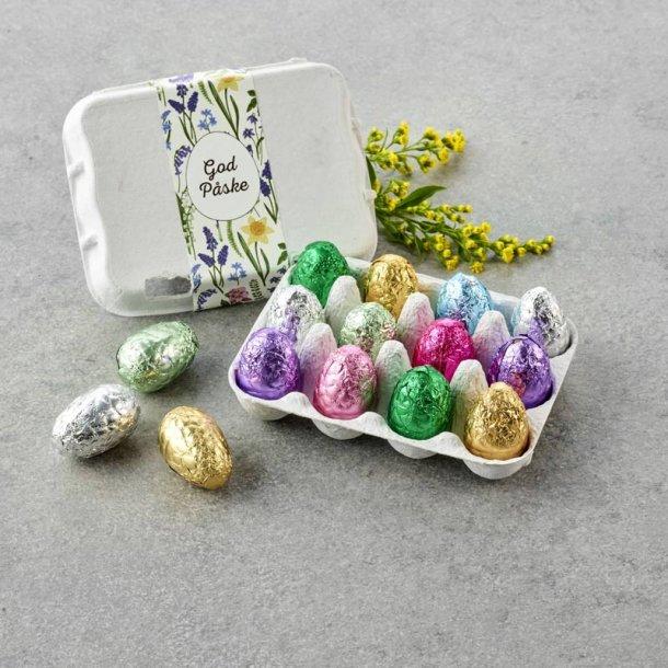 Æggebakke m/ indpakkede luksusæg -12 stk.