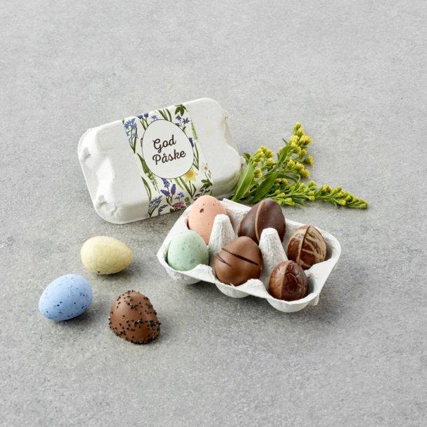 Æggebakke m/ mix påskeæg -6 stk
