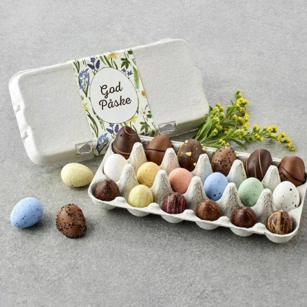 Æggebakke m/ mix påskeæg -18 stk