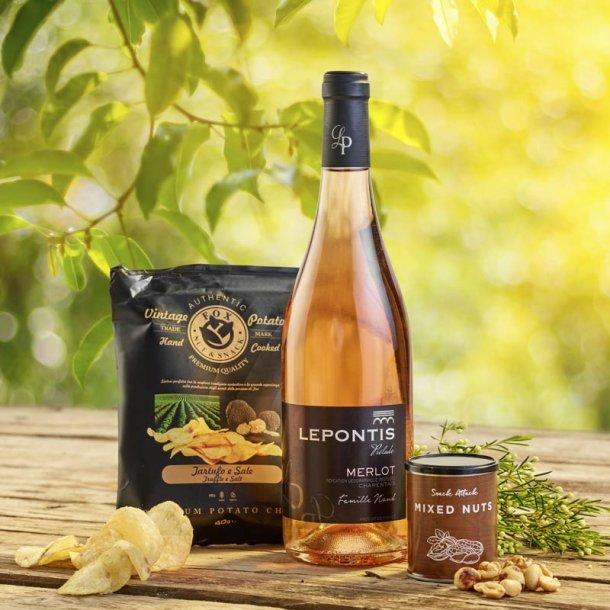 Merlot Rose vin & snack