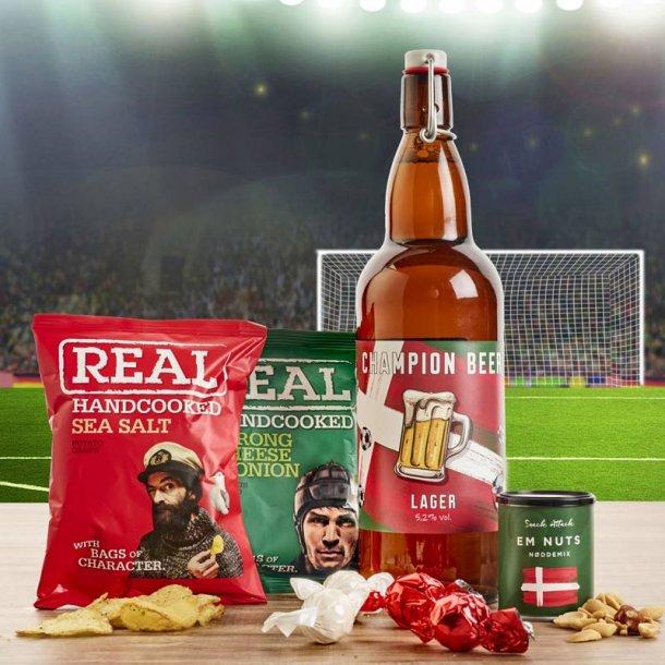 EM 2021 egopakke - øl & chips