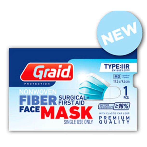 Godkendt engangs type IIR ansigtsmaske / mundbind - med firma logo