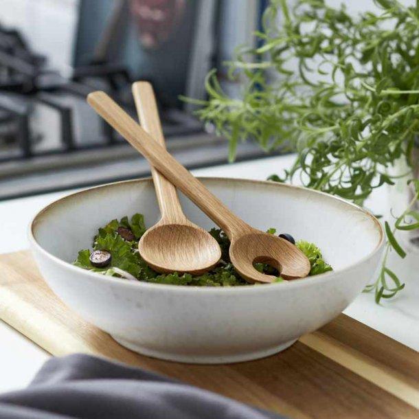 BITZ salatskål & salatbestik - creme