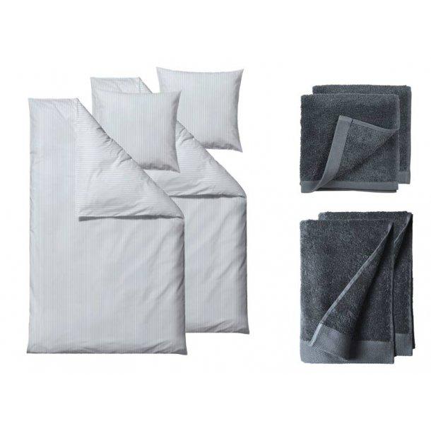 Södahl gavepakke sengesæt & håndklæder - China blue