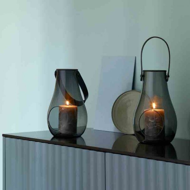 Holmegaard lanterne Smoke 2 stk. - H.25 cm