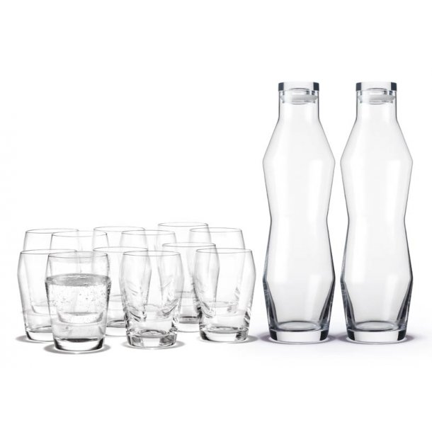 Holmegaard Perfection - vandkaraffel & 12 glas