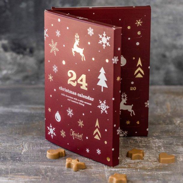 Rød vinterland julekalender m/chokolade