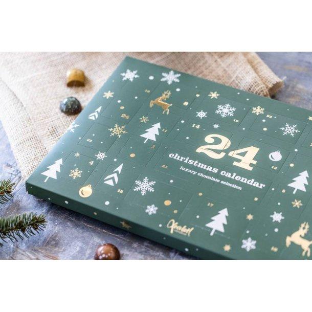 Grøn vinterland julekalender m/chokolade
