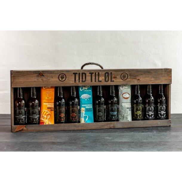 Tid til øl 9 stk. økologisk dansk øl & chips