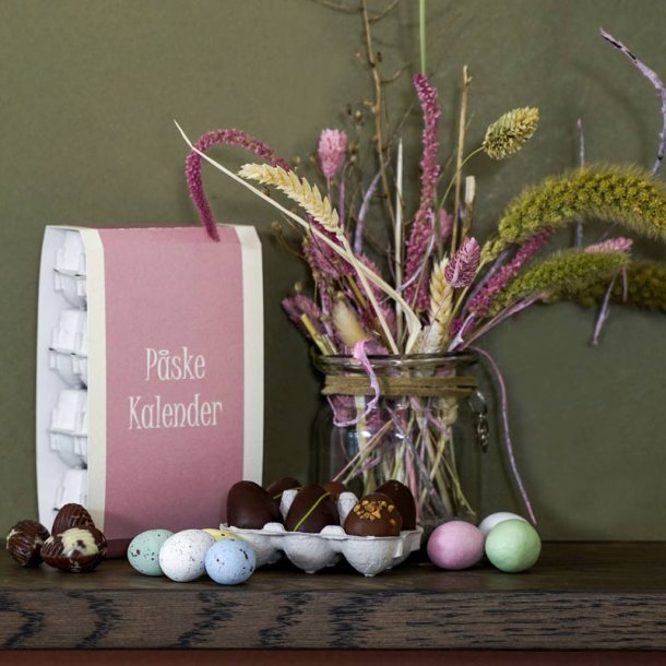 Påskekalender  med påskeæg - 275-285g