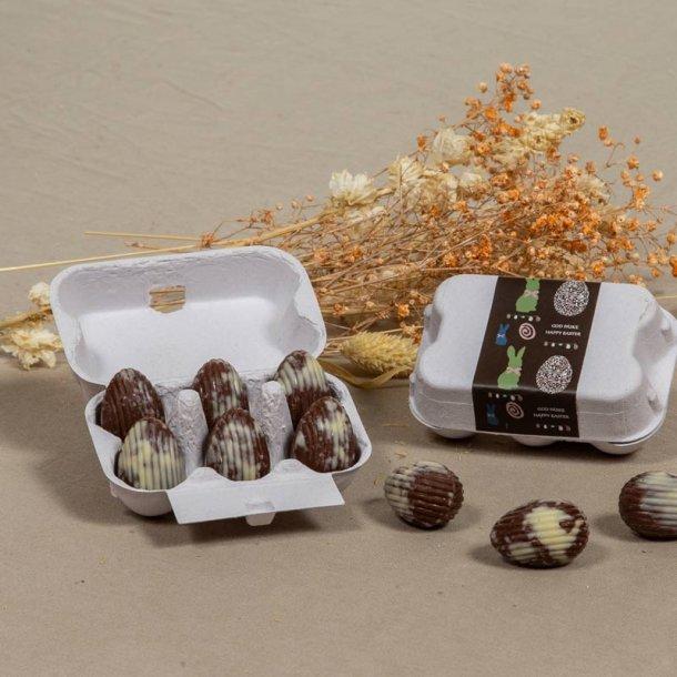 Æggebakke m/deco chokolade påskeæg - 6 stk