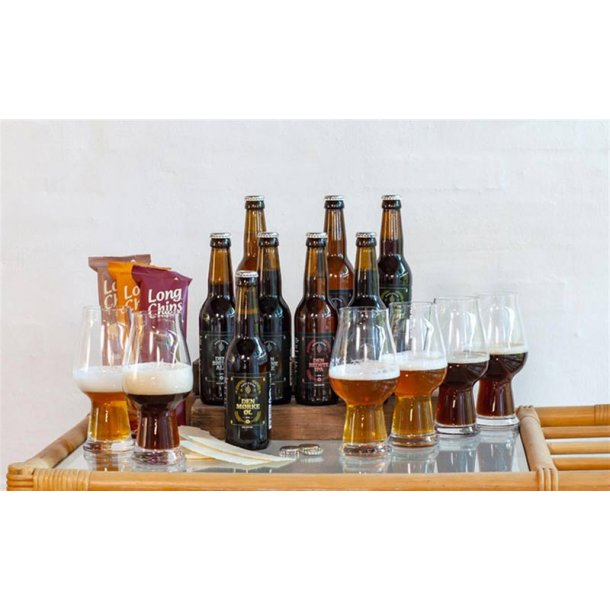 Øl & chips i gaveæske - budget 560