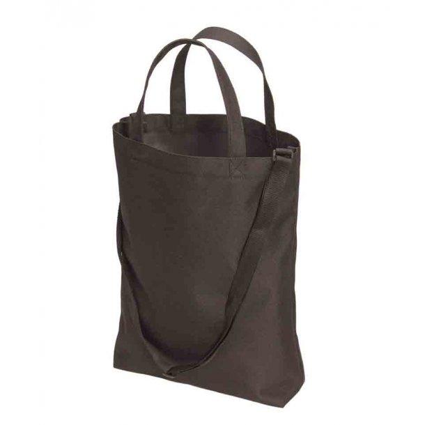 Shopper taske i polyester - med skulderrem