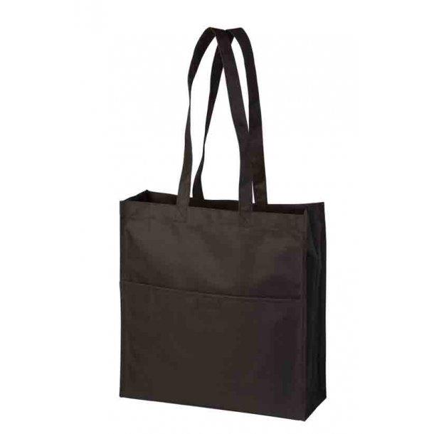 Shopper taske i polyester med lange stropper