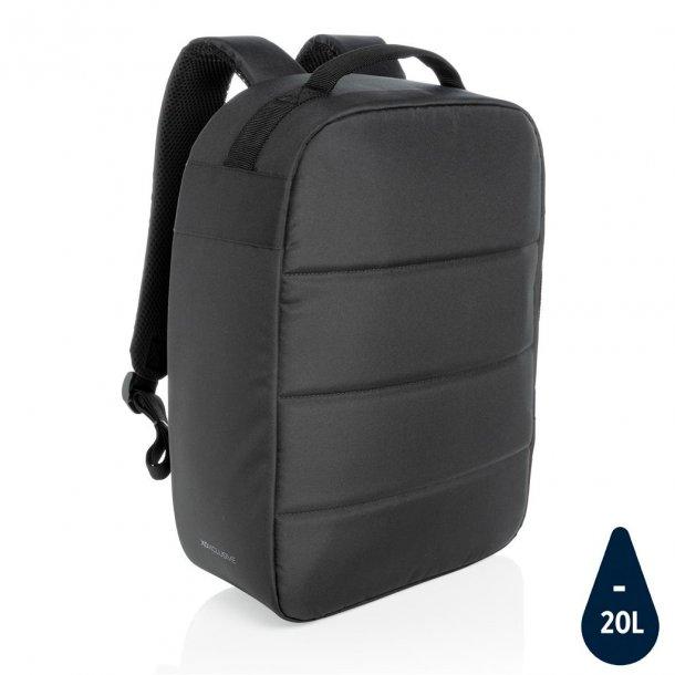 """Laptop rygsæk  15.6"""" tyverisikker - rPET - sort"""