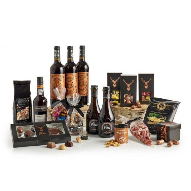 Købmandspakken - vin & chokolade