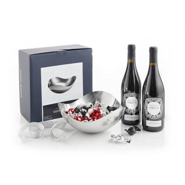 Georg Jensen Bloom skål, rødvin & chokolade