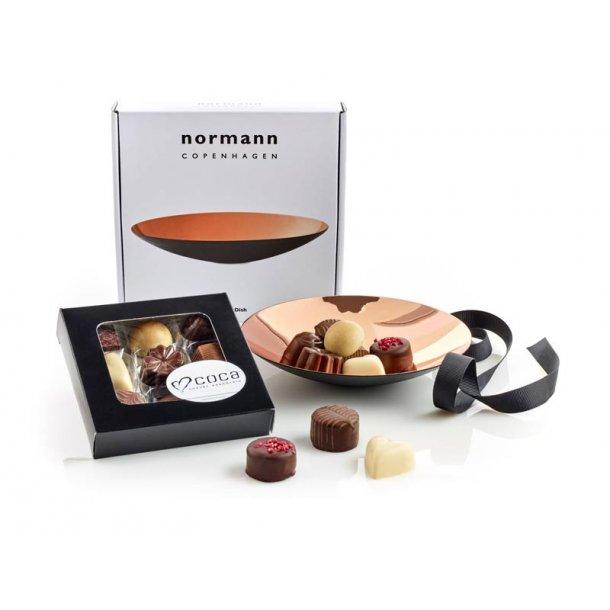 Normann Copenhagen Fad kobber & chokolade