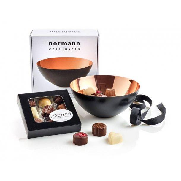 Normann Copenhagen Krenit skål 16 & chokolade - kobber