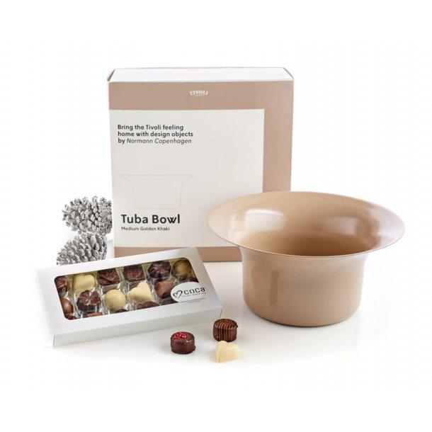 Tivoli Tuba skål 26 & chokolade - celladon