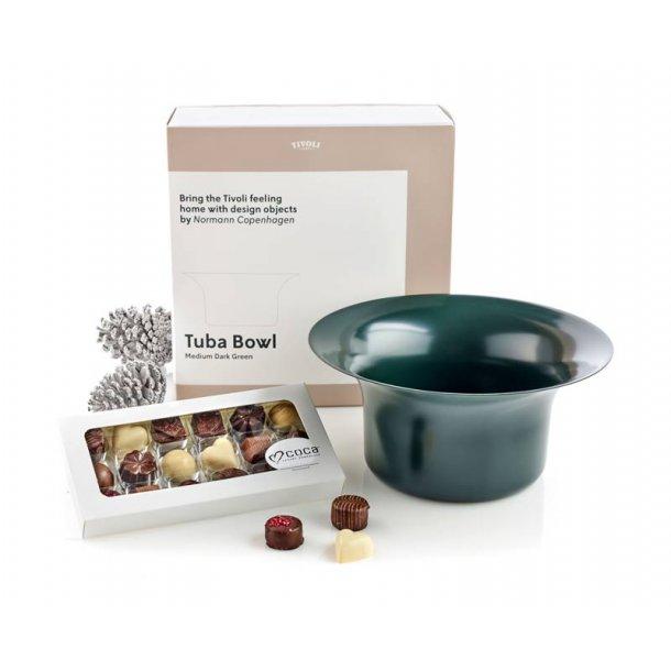 Tivoli Tuba skål 26 & chokolade - grøn