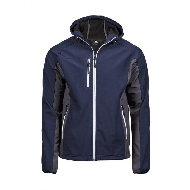 Hooded letvægts softshell jakke