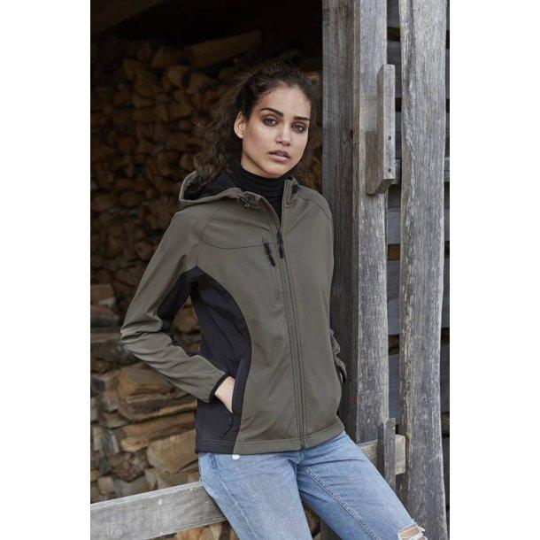 Hooded letvægts softshell jakke -dame