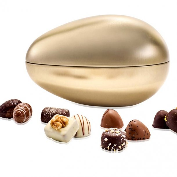 Metalæg struds guld - 750g luksuschokolade