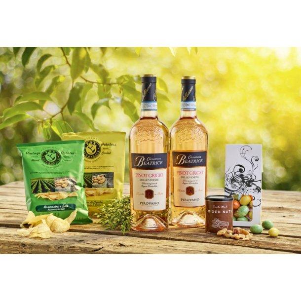 Vinpakken Rose & snacks