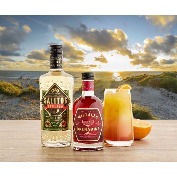 Tequila Sunrise med 6 stk glas