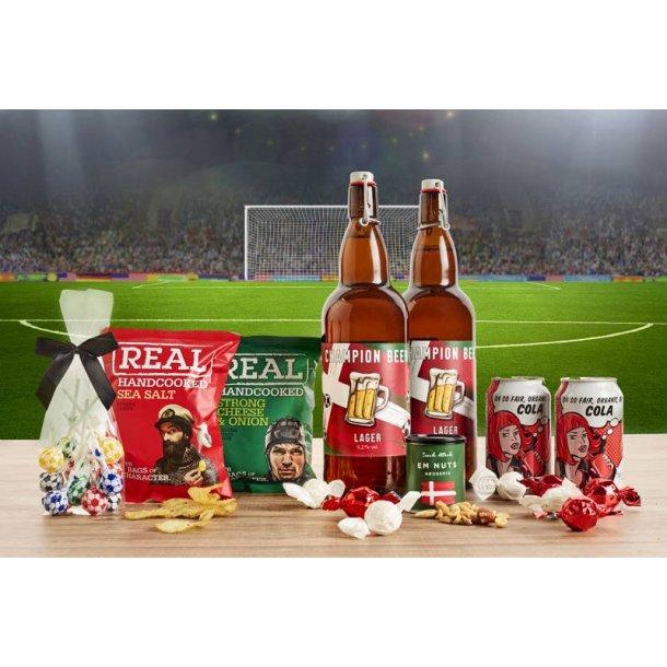 EM 2021  familiepakke - øl, slik & chips