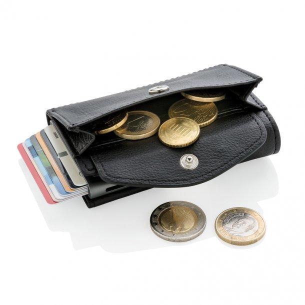 RFID kortholder  - mønt /nøglepung - sort