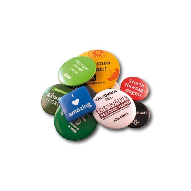 Badges med motiv & logo
