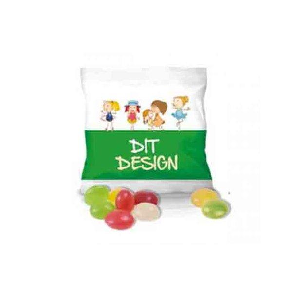 Jellybeans - pose mini - med plads til dit budskab