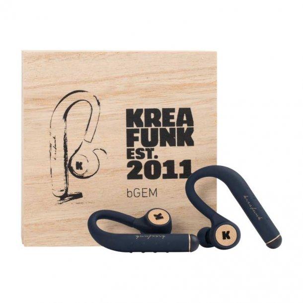 bGEM høretelefon Kreafunk - blå
