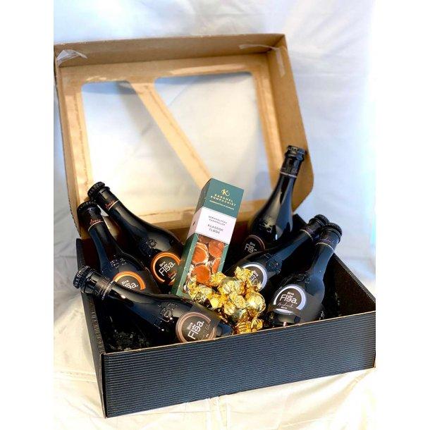 Øl gavepakke med lækkerier