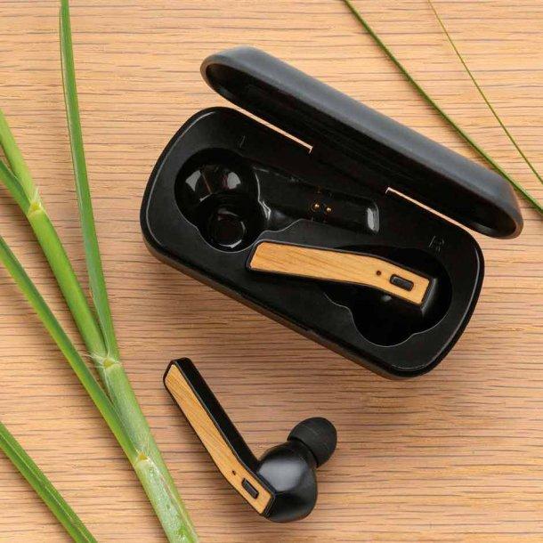 TWS Free Flow bambus øretelefoner i etui