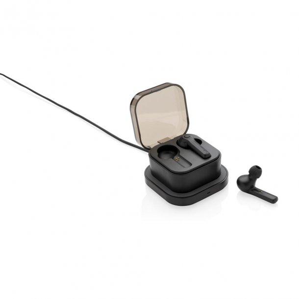 TWS øretelefoner - med trådløs oplade æske