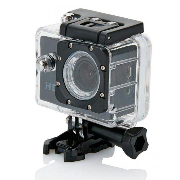 Action kamera inkl. 11 stk. tilbehør