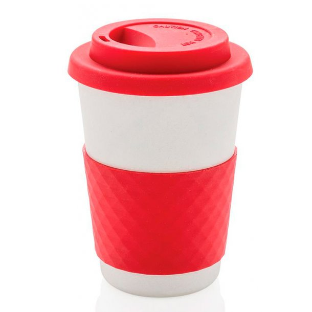 ECO bambus kaffekop - rød - 100% miljø rigtig