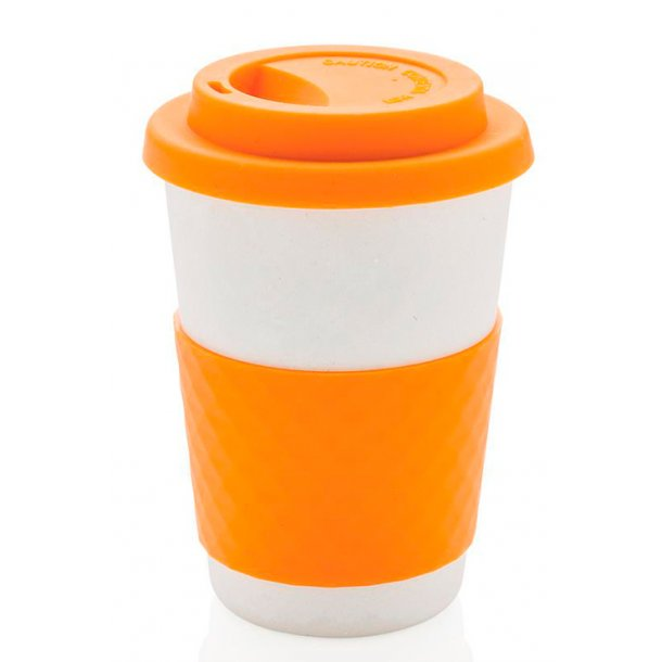 ECO bambus kaffekop - orange - 100% miljø rigtig