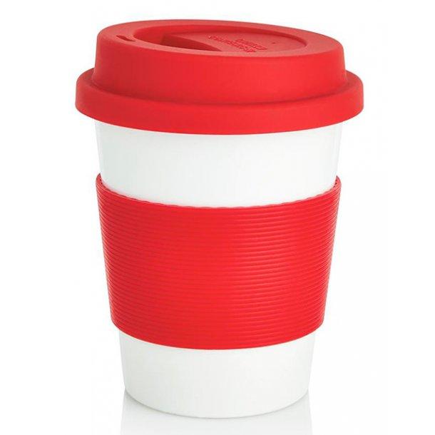 Kaffekop - 100% biologisk materiale - rød
